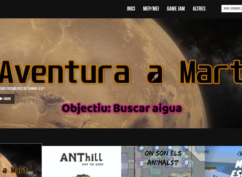 Un dels apartats del web www.ellaboratori.cat, el projecte de l'IES premiat.