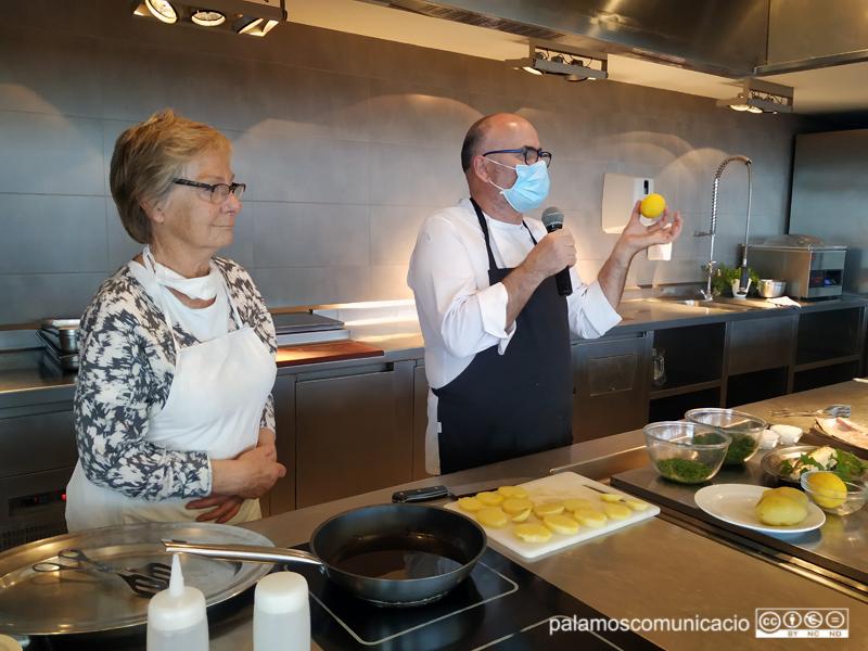 Margret Esders amb el cuiner de l'Espai del Peix, Ramon Boquera.