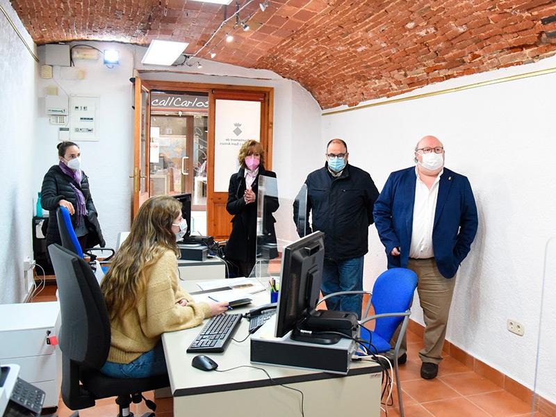 L'Oficina COVID-19 de Calonge i Sant Antoni el dia de la seva inauguració. (Foto: Ajuntament de Calonge i Sant Antoni).