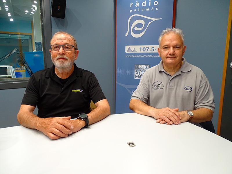 Pere Tur i Jordi Pérez, de l'Skaphos Sub Palamós, avui al 'Temps afegit'.