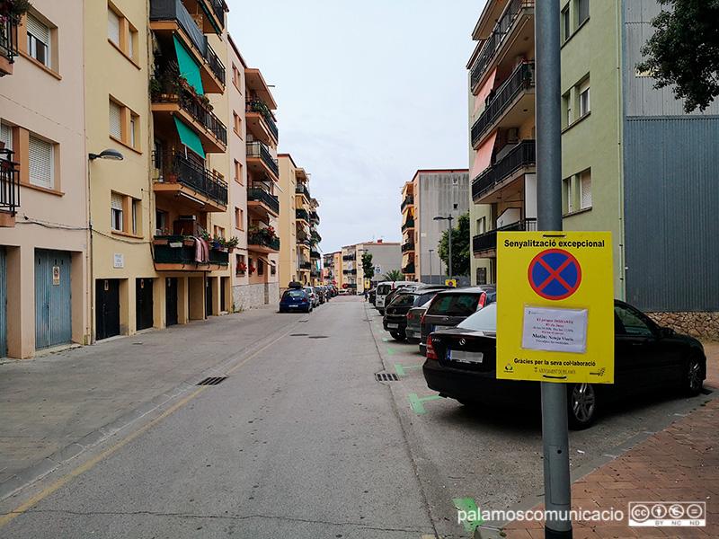 El carrer de Santiago Rusiñol, afectat demà per les tasques de neteja