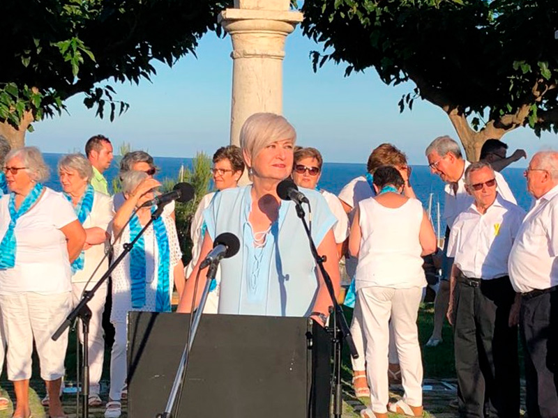 Dolors Martos va ser la pregonera de la Festa Major de l'any passat. (Foto: Revista del Baix Empordà).