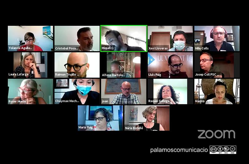 Imatge del Ple telemàtic de l'Ajuntament de Palamós celebrat ahir.