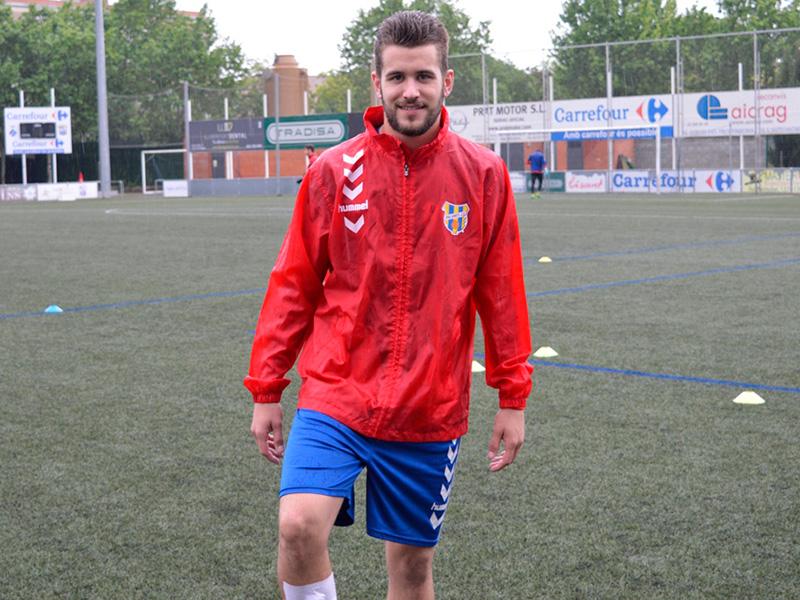 Àlex Campos, en la seva darrera etapa al Palamós. (Foto:  Sergi Cortés).