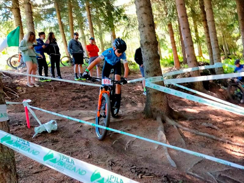 Martí Martínez, participant a la cursa per relleus aquest passat cap de setmana al Vall d'Aosta (Itàlia).
