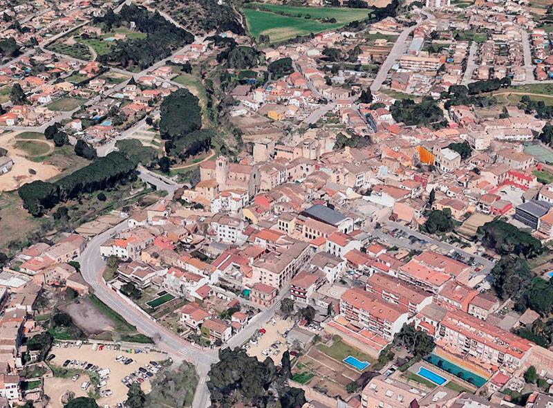Vista aèria de Calonge. (Foto: Google Earth).