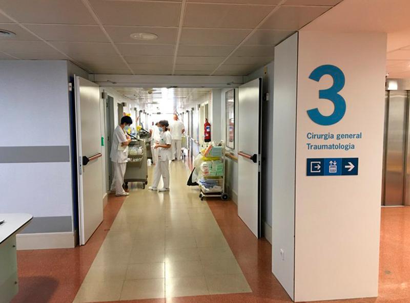 La tercera planta d'hospitalització de l'hospital de Palamós. (Foto: SSIBE).