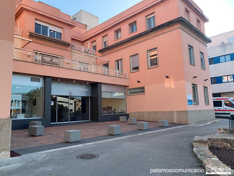 L'entrada a l'hospital de Palamós per la planta zero.