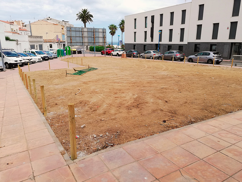 En el solar hi podran aparcar 25 vehicles. (Foto: Ajuntament de Palamós).