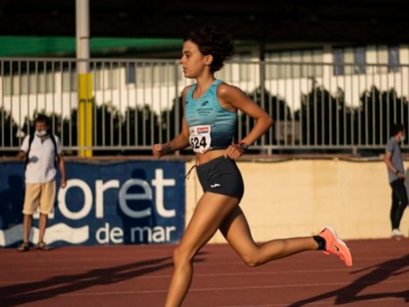 Blanca Batlle, atleta de l'Associació Atlètica Palamós (Foto: AA Palamós).
