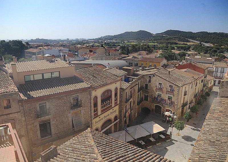 Vista del nucli antic de Calonge. (Foto: Ajuntament de Calonge i Sant Antoni).