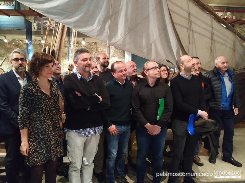 Els representants de la Taula de Cogestió Marítima del Litoral del Baix Empordà, en una foto de febrer de 2019.