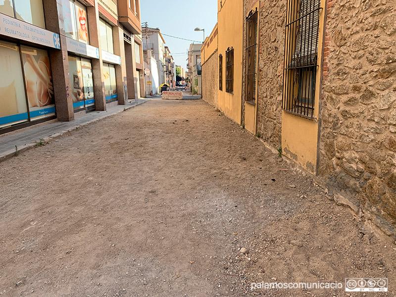 El carrer de la Mercè, a l'Eixample de Palamós, aquest matí.