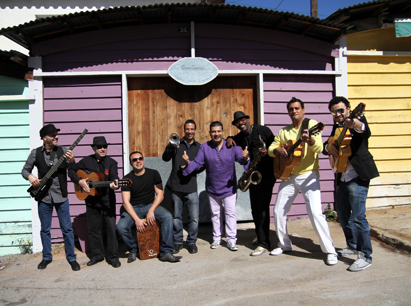 El grup Sabor de Gràcia, a la imatge, tanca avui el cicle de concerts de Rumb(A)Palamós.