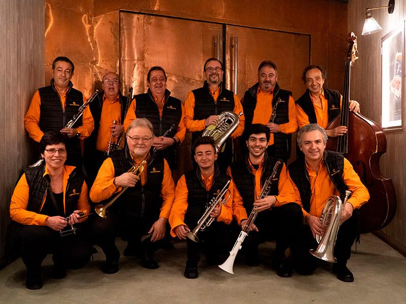 La Cobla Contemporània actua avui amb el Quartet Mèlt, en el primer concert d'Amb So de Cobla. (Foto: Cobla Contemporània).