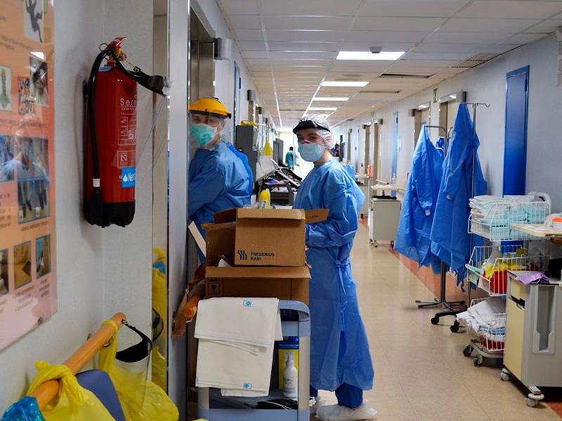 Ara mateix hi ha 26 persones ingresades per COVID-19 a l'hospital de Palamós. (Foto: SSIBE).