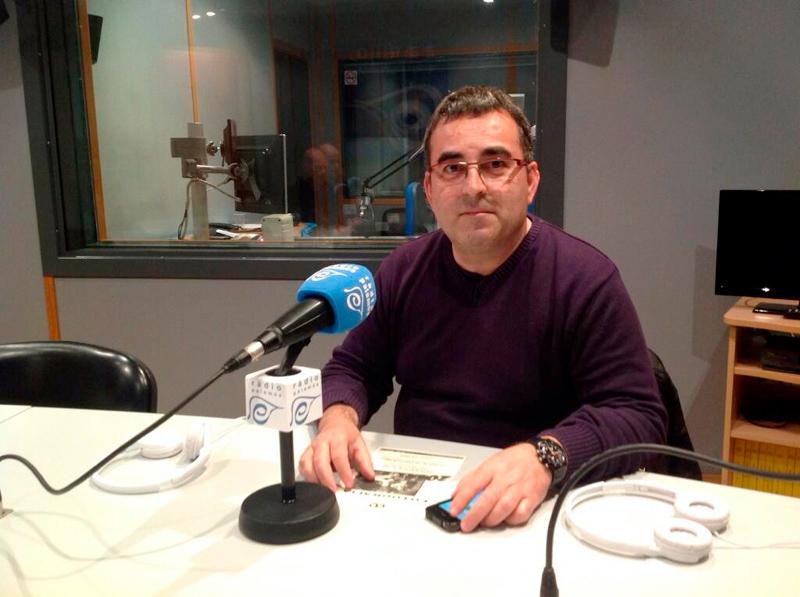 Josep Lois va morir el 29 d'abril als 59 anys. A la foto, en una visita als nostres estudis.