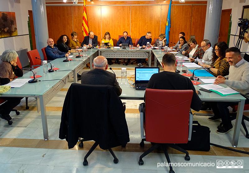 Imatge del darrer Ple Municipal presencial, el 18 de febrer de 2020.
